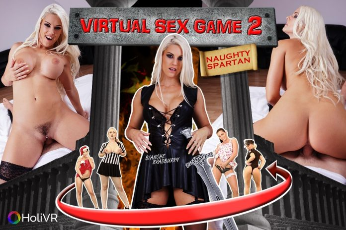 Virtual Sex Game With Horny Blonde