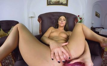 Teen Virtual Reality Masturbation at Casting Session